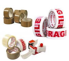 LONG LENGTH FRAGILE TAPE STRONG CLEAR / BROWN / 48mm x 66M PACKING PARCEL TAPE
