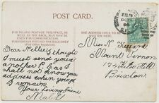 "2427 1904, EVII 1/2d postcard LONDON Duplex ""SOUTH-NORWOOD-S.O / S.E. / 49 / B"""