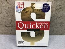 NEW Vintage Quicken Deluxe for Window 95 cd-rom Intuit 1994 SEALED