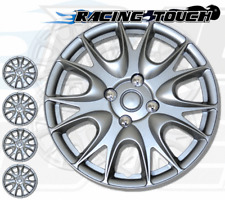 "4pcs Set 17"" Inches Metallic Silver Hubcaps Wheel Cover Rim Skin Hub Cap #533"