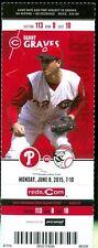 2015 Reds vs Phillies Ticket:  Ivan De Jesus Jr. hit his 1st MLB Home Run