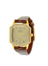 Longines Quartz Diamond 18K Yellow Gold Watch