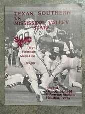 MISSISSIPPI VALLEY STATE UNIV @ TX SOUTHERN U COLLEGE FOOTBALL PROGRAM 1980 EX