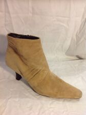 Clarks Beige Ankle Suede Boots Size 5.5