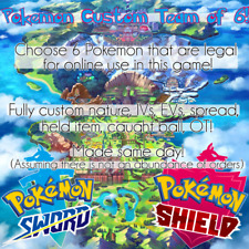 Pokemon Custom Shiny 6IV Team of 6 for Pokemon Sword and Shield [Fast]
