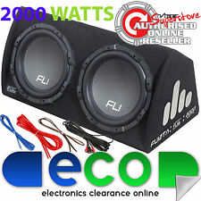 "2000 Watt Twin 12"" 30cm Active Amplified Amp Car Sub Bass Box Subwoofer Amp Kit"