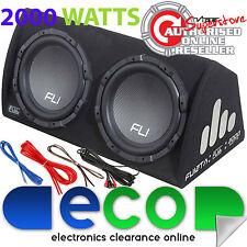 "2000 Watt Twin 12"" 30cm Active Amplified Amp Car Sub Bass Box Subwoofer Amp Kit"