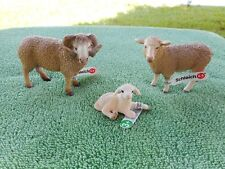 Sheep Family by Schleich/ toy/ replica/ 13743/13726/13745/ram/ewe /lamb/New