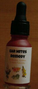 Ear Mites Remedy~Effective FAST Relief; Kills Mites & Clears Infection 1/2  oz.