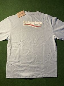 Balenciaga Campaign Shirt Election Size Small Blue Balenciaga Logo