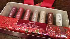 FRESH Sugar Lip Delight Set of 7 Fig Ruby Tulip Rose Nude Untinted + Therapy NIB