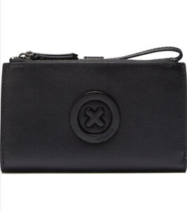 MIMCO Black Wallet Leather Super Duo Large Phone Case Pouch Bag BNWT RRP$199 NEW