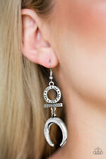 Majestically Moon Child Silver Earrings By: Paparazzi