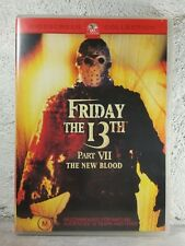Friday the 13th Part VII The New Blood (DVD) Kane Hodder - Horror - RARE - OOP
