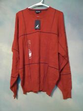 NEW WITH TAGS $69.50 NAUTICA MENS 100% COTTON SWEATER SZ LARGE
