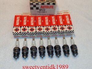 'NOS' Ford Autolite BF-22 Spark Plugs...'STAR LOGO'.....High Performance Motors