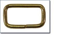 "10ea 3/4"" x 3/8"" x 2.5mm Tuck Loop Solid Brass Unwelded 4950B"
