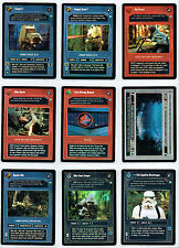 STAR WARS CCG ENDOR SET OF 9 DARK SIDE FOIL CARDS INCLUDING BOTH TEMPEST URF