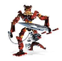 LEGO Bionicle 8911 Toa Jaller 100% Complete with Manual
