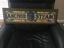 Anchor Steam Beer Bar Pub Light Tap Craft Rare Victorian Church Stained Glass
