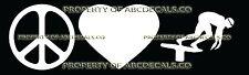 PEACE LOVE SWIMMING Vinyl Wall Sticker Car Bumper Window Decal