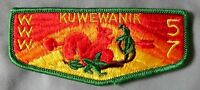 MERGED KUWEWANIK OA LODGE 57 ALLEGHENY COUNCIL BSA PATCH 242 SERVICE FLAP MINT!