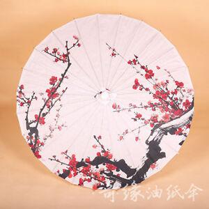Chinese Traditional Retro Handmade Paper Umbrellas Parasol Dance Wedding Prop