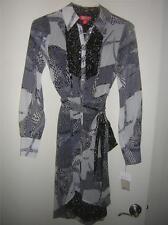 Kirna Zabete for Target High-Low Hem LongSleeve Shirt Dress B&W Women's Sz Small