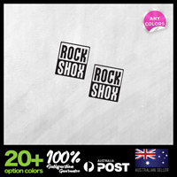 2x ROCK SHOX Side Tube Decals Stickers Bike Cycling Bicycle 30x34mm