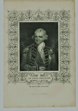 Vintage Engraved Illustrated Plate Sir Ralph Abercromby British Navy Naval Hero