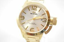 TW Steel CB81 Canteen Silver Dial Yellow Gold Stainless Steel Watch