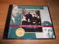 Ultimate Family Tree Deluxe AOL's Special Edition CD ROM Vintage Software NEW