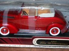 Road Signature Ford 1937 Convertible Die Cast 1:18 Scale