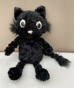 Jellycat Dapperdots Pussycat Black Cat Soft Toy Comforter Baby Soother