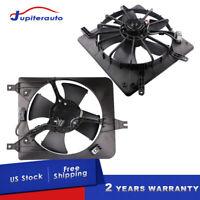 Set 2 Radiator Condenser Cooling Fan For 98-02 Honda Accord 2.3L L4 Left+Right