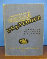 Trade Catalogue / CATALOGUE Of PRINTING MACHINERY & SUPPLIES No 53 1st ed 1953