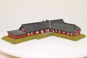 Spur N grosses Landgut Gutshof Bauernhof Laser Cut aus Holz fertig aufgebaut