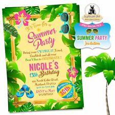 DIGITAL FILE - Luau / Beach Party Invitation U PRINT
