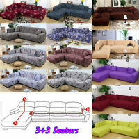 L Shape 3+3 Seaters Separable Sectional Sofa Slipcovers / 3-Seater Sofa Covers