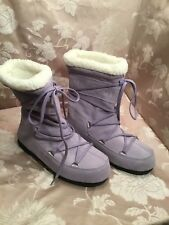 Moon Boot Tecnica Women's Caviar Mid Sabbi Suede Pull On Boots Size EU 38/7.5-8M