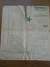 Superb 1960s MODEL CRUISER SHIP Hobbies Design No. 3146 Plan Instructions