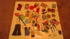 Lot of 25 Vintage 1980s Assorted Miscellaneous Key Rings Keychains