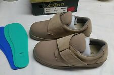 OrthoFeet Women's Sz 6M Beige Washable/Stretch Shoes Velcro Closure #824