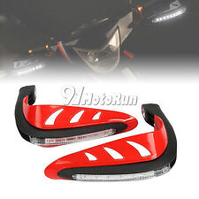 """RED Universal 7/8"""" HandGuards w/ Turn Signals For Honda CRF250L CRF250R 13-14"""