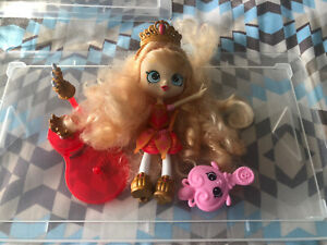 Shopkins - Shoppies Doll - Tiara Sparkle Doll with Accessories - Great Condition