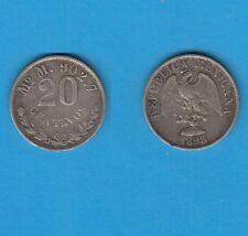 Mexique 20 Centavos  argent 1898 Mexico Silver Coin
