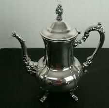 """Vintage Towle Silverplate Footed Lidded Tea Pot Teapot Super Clean 11 3/4"""" Tall"""
