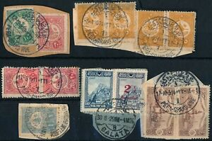 TURKEY - CONSTANTINOPLE, OTTOMAN UNCHECKED LOT OF DIFF. USED STAMPS. #A721