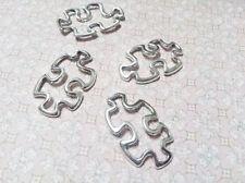 Puzzle Piece Charms Pendants Puzzle Connector Links Antiqued Silver BULK 50pcs