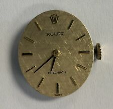 Rolex 17 jewel Precision Montres 1400 Calibre Movement, Dial & 18K Gold Crown